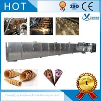 Waffle Rolled Sugar-Cone Baking Machine With Extra-Long Size