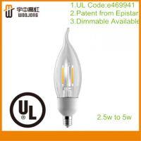 UL Approval Dimmable Led Edison Light  BA11 2.5W-5W