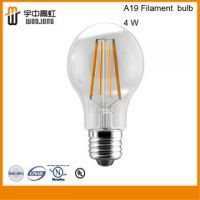 UL Approval Dimmable Led Filament Bulb A19 4W