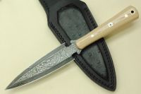 CUSTOM HANDMADE DAMASCUS DAGGER KNIFE