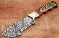 handmade damscus hunting tracker knife