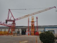 China popular 8tons QTD4522 luffing tower crane with 45m jib for high-rise building