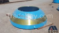 Metso GP series cone crusher standard mantle/concave/cone supply