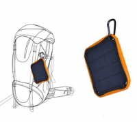 portable led solar camping light with hook