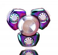 Fidgets Spinner, Metal Fidget Spinner Rainbow Figit Hand Toy - Ultra Fast Stainless Steel Hybrid Ceramic Bearing for 5+ Min Spins - Stress Reducer Relieve Anxiety and Boredom - Colorful