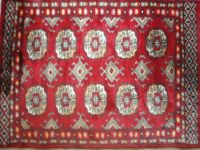 Hand Knotted Red Wool Rug