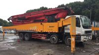 Used Sany truck mounted concrete pump 56m 2013