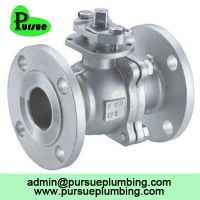 stainless steel 304 316 2 piece flange ball valve china supplier