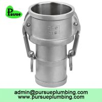 stainless steel 304 316 aluminum Camlock C hose shank coupler