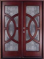 "Circular Deluxe Mahogany 36"" Double Entry Door"