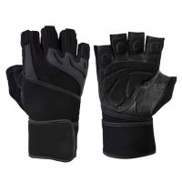 Weight Lifting Leather Gel Padded Gloves