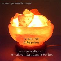 Salt Bowl Lamp | Himalayan crystal rock salt fire bowl lamps STARLINE