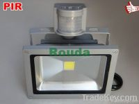pir led flood lights 10w 20w 30w 50w taiwan led chips 100-110lm/w