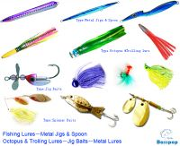Fishing lures metal jigs spoon octopus trolling lures for Different types of fishing lures