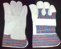 Split Leather Working Gloves Safety Glove Blue