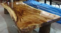 Acacia Large Solid Slab Dining Tables
