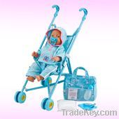 real like baby doll with metal stroller By Rongtai Toys factory ...