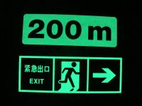 Photoluminescent Safety Sign/ Glow Sign