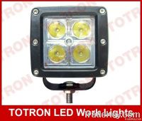 "3"" 16W 9-32V Square LED Driving Light with CREE chips"