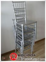 Silver Wooden Stacking Chiavari Chair