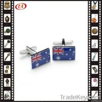 Novelty Flag Shape Metal Cufflinks