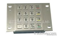 Vandal Proof Ip65 Stainless Steel Keypad With 16 Keys(tms-m88kp-d)