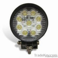 LED Work Light with Stainless Steel Mounting Bracket & 9 x 3W LED bulb