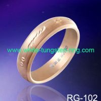 Unique Tungsten Ring Carving & Rose Gold Plated Wedding Rings Newest