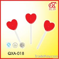 7g Fruit Flavour Valentine Red Heart Lollipop