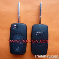 Audi 2 Button Remote Key Blank Without Panic (1616 Battery Small Batte