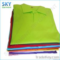 200gsm Ab Cotton Turndown Collar Without Buttons T Shirts In Stock