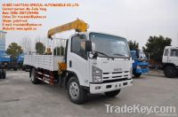ISUZU QL1100 4T telescopic boom truck with crane