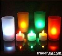 Voice-activated colorful candle lamp