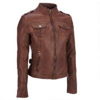 Women Leather Motorbike Jackets, Genuine Cow Hide Leather