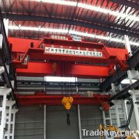 QD Type of Overhead Crane with Hook and lifting capacity of 500/100T