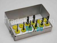 Dental implant drills black titanium coated