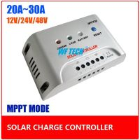 20A 30A Intelligent MPPT Solar Controller, 12V/24V Auto Switch Solar Controller to Increase Module Efficiency 30%