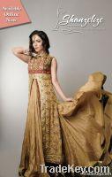 Golden & Marron Wedding Dress / Bridal