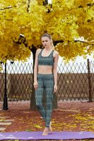 Wholesale new design sportswear polyester and spandex women sublimation leggings