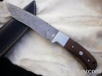 Damascus Steel Hunting Skinner Knife