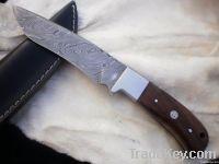 Damascus Steel Hunting Skinner Knife