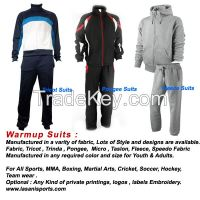 Warm up Sweat suits jogging tracking Training suits