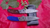 Damascus hand made folding knife