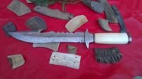 Damascuse Hand made hunting knife with Bone