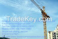 Construction self lifting tower crane 6 Tons For High-Rise building