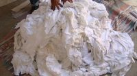 All White Cotton T-Shirt Wiping Rags U$ 0.95/kg