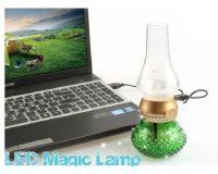Promotional USB Rechargeable Antique Blow LED Lamp, Blowing Control Kerosene Candle Lamp