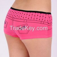 women sports underwear Jeans shape cotton panties stretch cotton wome