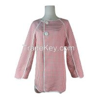 New Design Red Plaid Raglan Sleeve Coat for Ladies
