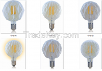 led light bulb110V 220v Diamond shapes light lighting e27 lamp base 3w vintage light bulb e27 led filament bulb